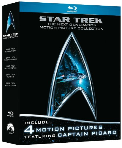 Cover art for  Star Trek: The Next Generation Motion Picture Collection (First Contact /  Generations / Insurrection / Nemesis) [Blu-ray]