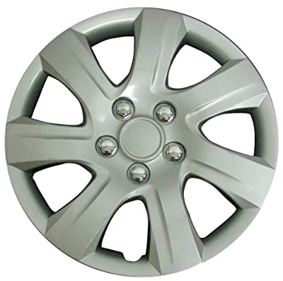CCI IWC445-16S 16 Inch Clip On Silver Finish Hubcaps - Pack of 4