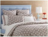 Jonathan Adler Fish Scale Duvet Cover, Chocolate/Coral, King