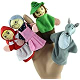 Mallooom 4PCS Little Red Riding Hood Finger Puppets Gifts Baby Educational Tell StoryToy