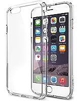 Spigen [Série Ultra Hybrid] [Crystal Clear] Technologie AIR CUSHION dans les angles - Coque Bumper avec dos transparent - Emballage ECOLOGIQUE - Coque Bumper pour iPhone 6 (2014) - Crystal Clear (SGP10954)