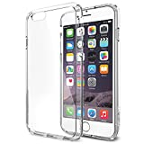 iPhone 6 Case, Spigen® [AIR CUSHION] iPhone 6 (4.7) Case Bumper **NEW** [Ultra Hybrid Series] [Crystal Clear] Air Cushion Technology Corners + Bumper Case with Clear Back Panel – ECO-Friendly Packaging – Bumper Case for iPhone 6 (4.7) (2014) – Crystal Clear (SGP10954) Reviews