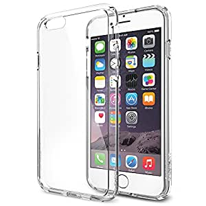 iPhone 6 Case, Spigen [AIR CUSHION] Bumper [Ultra Hybrid Series] [Crystal Clear] Air Cushion Technology Bumper Case with Clear Back Panel for iPhone 6 (2014) - Crystal Clear (SGP10954)