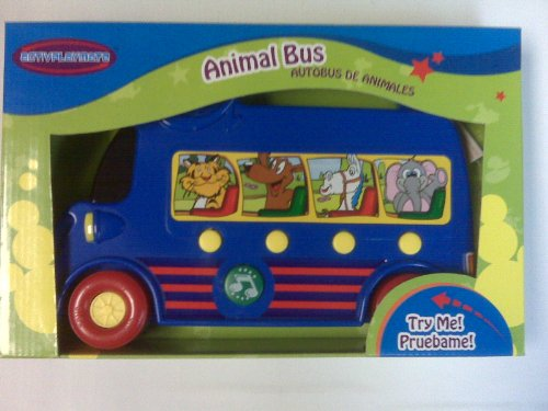 Animal Bus with 4 Realistic Animal Sounds, Press for Sound and Melodies. Battery Operated, Batteries Included
