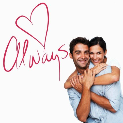 WallStickersUSA Wall Sticker Decal, Always with Heart, Medium