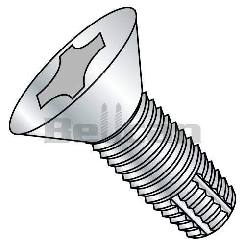 Phillips Drive Pack of 100 Steel Sheet Metal Screw Chrome Plated Finish #8-15 Thread Size 3//4 Length Type A Round Washer Head