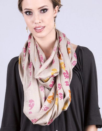 Elephant Animal Print Infinity Snood Fashion Scarf