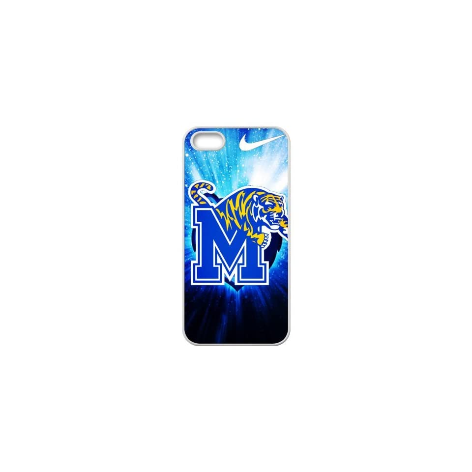 Sports Custom DIY Design 18 NCAA Memphis Tigers Logo Print White Case With Hard Shell Cover for Apple iPhone 5/5S Just Do It