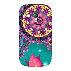 Vintage Round Pattern Multicolor Back Case Cover for Galaxy S3 Mini
