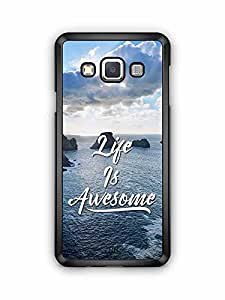 YuBingo Life is Awesome Designer Mobile Case Back Cover for Samsung Galaxy A3