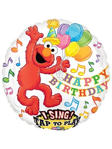 "Elmo 28"" Sing-A-Tune Birthday Balloon Great Birthday Party Decor - 1"