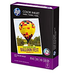 HP Color Inkjet Paper, 96 Brightness, 8.5 x 11 Inches, 1000 Sheets (20200-0)