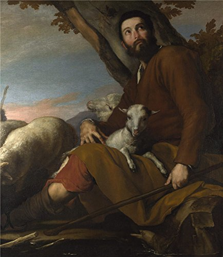 'Jusepe De Ribera Jacob With The Flock Of Laban ' Oil Painting, 10 X 12 Inch / 25 X 29 Cm ,printed On High Quality Polyster Canvas ,this High Quality Art Decorative Canvas Prints Is Perfectly Suitalbe For Gift For Bf And Gf And Home Artwork And Gifts (Target Faux Leather Jackets compare prices)