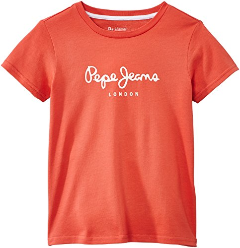 Pepe Jeans Jungen T-Shirt, ART, GR. 176 (Herstellergröße: 16 ans), Rot (Washed Red)