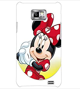 PrintDhaba Minnie Mouse D-2238 Back Case Cover for SAMSUNG GALAXY S2 (Multi-Coloured)