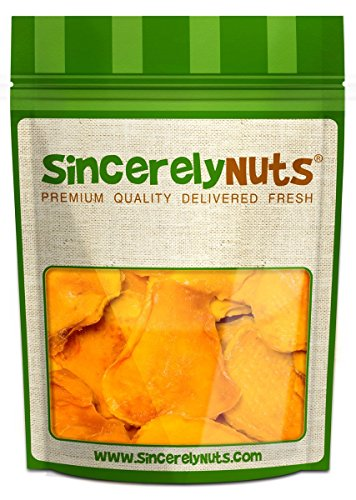 Sincerely Nuts Organic Dried Mango Slices - Two (2) Lb. Bag - Alarmingly Delicious - Stupefying Freshness - Filled with Wholesome Nutrients - Kosher