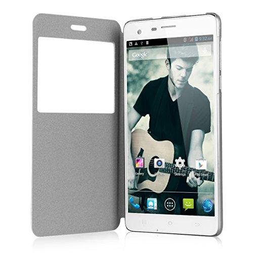 "CUBOT S350 5,5"" Zoll IPS HD Screen 3G Smartphone Quad Core 1.3GHz Dual SIM 2G+16G Dual Kameras Android 4.4 Handy ohne Vertrag GPS Bluetooth 4.0 WIFI Weiß"