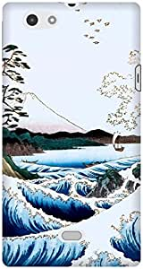The Racoon Grip The Sea at Satta, Suruga Province hard plastic printed back case / cover for Sony Xperia Miro