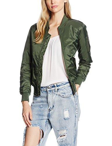Urban Classics Ladies Basic Bomber Jacket, Giacca Donna, Grün (Olive 176), 40