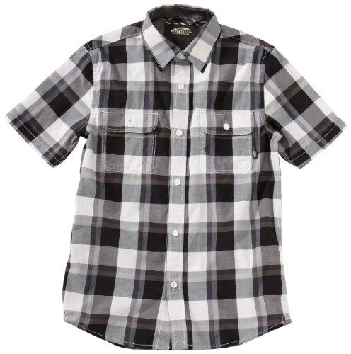 Vans Averill - Camicia da uomo a maniche corte, Bianco (bianco), M