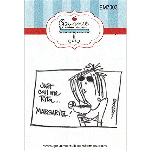 Gourmet Rubber Stamps Rita Margarita Cling Stamps, 2.75 x 4.75