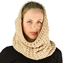 Winter Soft Chunky Pullover Knit Circle Loop Infinity Ski Hood Cowl Scarf