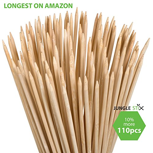 Review Of Bamboo Marshmallow S'mores Roasting Sticks 36 Inch 5mm Thick Extra Long Heavy Duty Wooden ...
