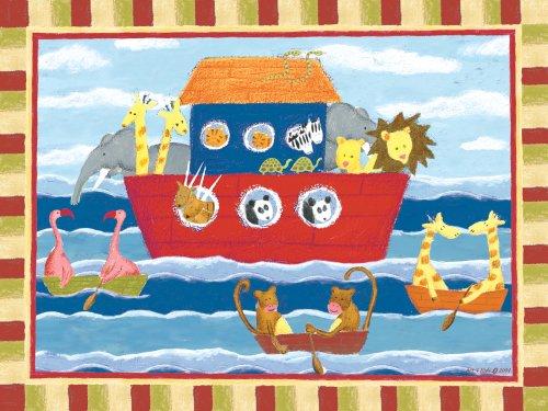 "Art 4 Kids ""Noah'S Animals"" Mounted Art Print, 24""X18"" front-900077"