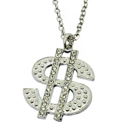 Dollar Sign Long Necklace Sweater Necklaces