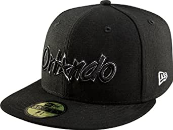 NBA Orlando Magic Hardwood Classics Basic Black and White 59Fifty Cap, Black/White, 6 3/4