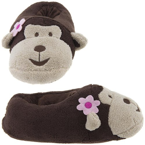 """Buy Low Price Capelli New York """"Mini Monkey"""" Chamois Animal Head Bootie Ladies Indoor Slipper (B0075932BI)"""