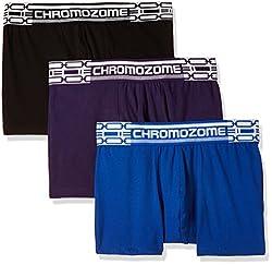 Chromozome Men's Cotton Boxer (Pack of 3) (8902733347334_CR 02_Medium_Plum, Black and Blue)