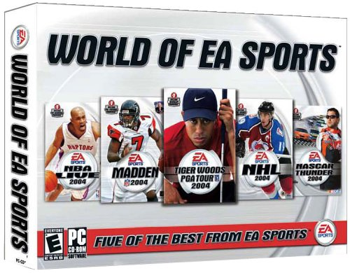 The World of EA Sports (NBA Live 2004, Madden 2004, Tiger Woods PGA Tour 2004, NHL 2004, Nascar Thunder 2004)