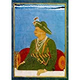 Tallenge - Official Portrait Of Tipu Sultan - The Tiger Of Mysore - Vintage Indian Art Collection - Unframed Rolled...