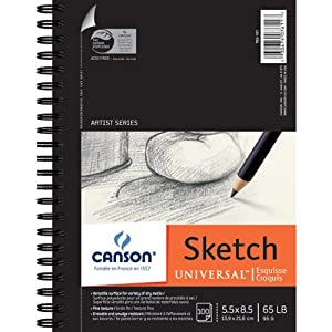 "Canson Universal Sketch Paper Pad 5.5 x 8.5 "": 100 Sheets"