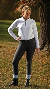 TuffRider Ladies Light Cotton Lowrise Knee Patch Long Breeches