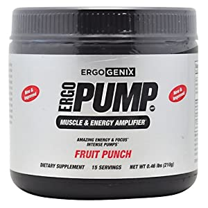 Ergogenix ErgoPump NMT Fruit Punch 210 Grams/15 Servings