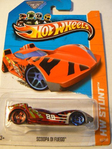 Hot Wheels 2013 Hw Stunt Scoopa Di Fuego Red 82/250 - 1