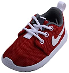 Nike RosheRun Red White Toddlers Trainers Toddlers 5.5 UK