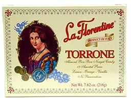 (Pack of 5) La Florentine Torrone Italian Soft Almond Nougat Candy - 18 pc Assortment Box