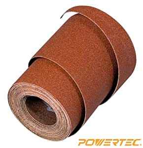"POWERTEC Abrasive Sanding Strip 3 "" x 76-1/8 "" 100 Grit for Grizzly G0458 18 "" Drum Sander, Ready to Wrap"