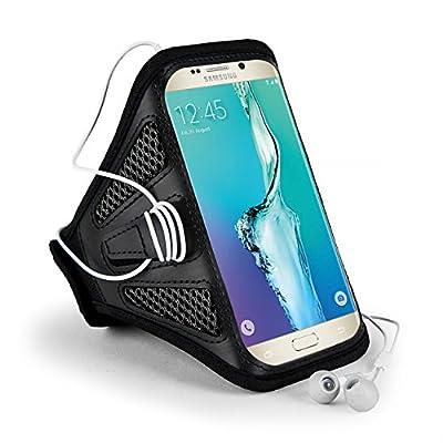 SumacLife Meshy Workout Exercise GYM Armband Case for Samsung Galaxy Noe 5 V / S6 Edge+ Plus / OnePlus 2 / Microsoft Lumia 640 XL