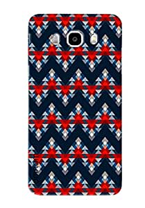 Omnam Triangle Printed Pattern Blue Color Designer Back Cover Case For Samsung Galaxy J7 (2016)