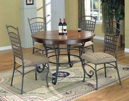 Buy Low Price Coaster Antique Brown 5 Piece Dinette Set By Coaster Furniture (VF_AZ01-9005)