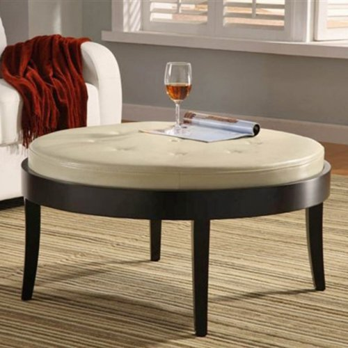 Citation Coffee Table Ottoman with Removable Cushion Color - Cream Cushion