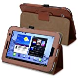 eForCity Leather Case with Stand for 7-Inch Samsung Galaxy Tab 2 , Brown (PSAMGLXTLC19)