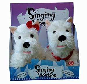 """The Singing Westies - Squeeze our paws and hear us sing """"I've got you babe"""""""