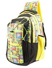 GLEAM Trendy Multicolour School Bag (Yellow)