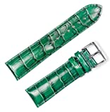Crocodile Grain Watchband (Chrono) Green 14mm Watch band - by deBeer