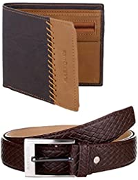 MarkQues Men's Wallet And Belt Combo (CAR-220220 URB-02)